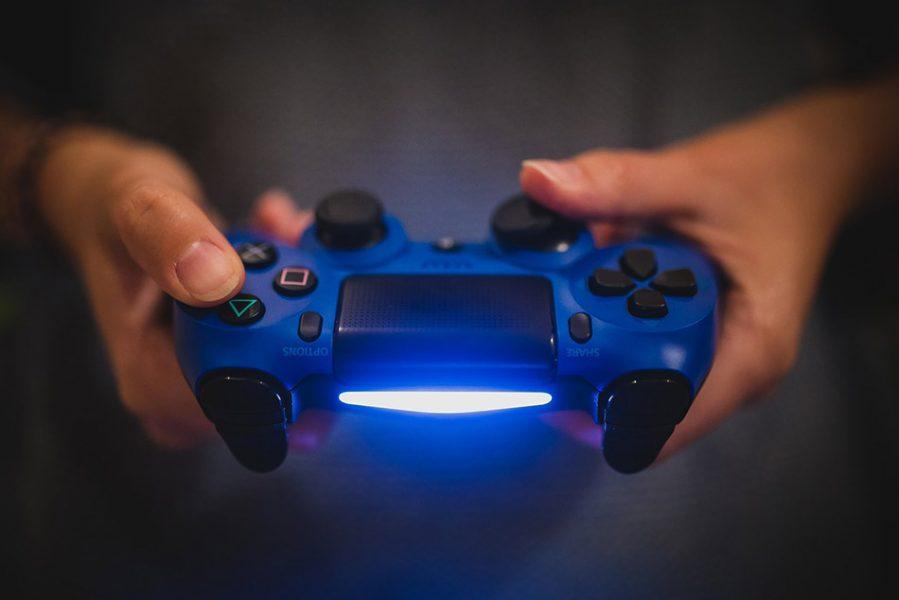 controller ps4 blu